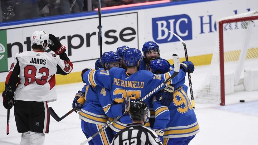 Шайба Тарасенко помогла «Сент-Луису» победить «Оттаву» в матче НХЛ