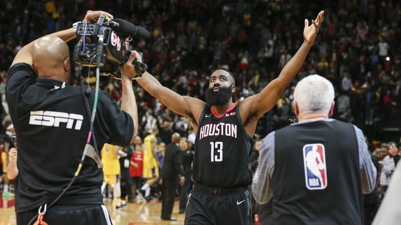 Харден стал вторым игроком в истории НБА, набравшим более 30 очков в 19 матчах подряд