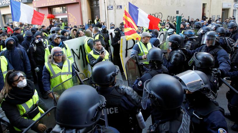 На акции «жёлтых жилетов» во Франции задержали около 300 человек