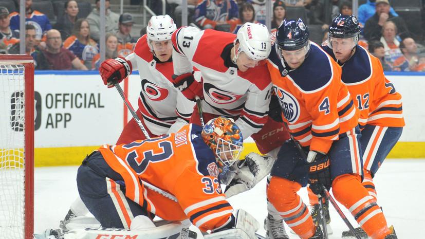 Три очка Свечникова помогли «Каролине» обыграть «Эдмонтон» в матче НХЛ