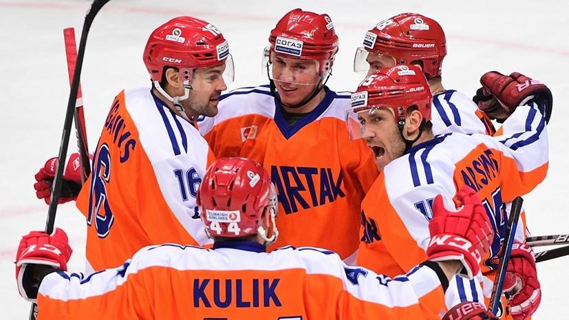 Три очка Никонцева помогли «Спартаку» разгромить «Торпедо» в матче КХЛ