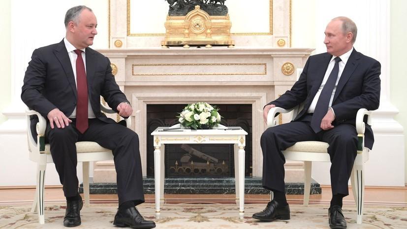 Додон заявил опланируемой на следующей неделе встрече с Путиным