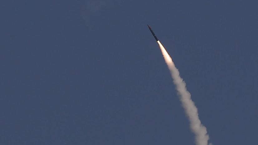 ВКС России зафиксировали пуск израильской ракеты над Средиземным морем