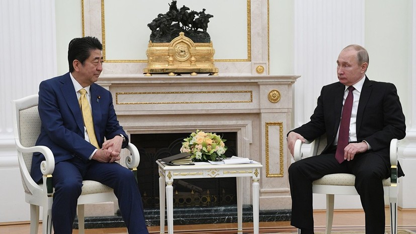 Абэ назвал откровенным разговор с Путиным по мирному договору