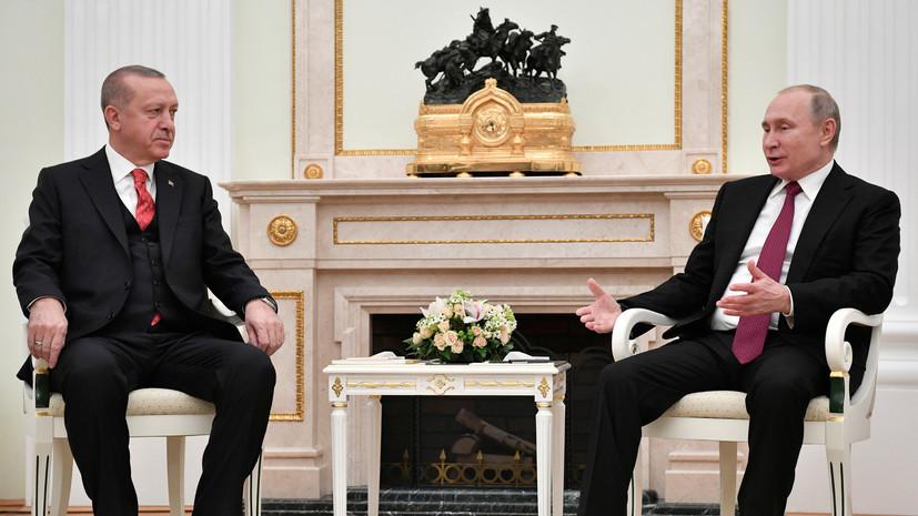 Путин надеется на ударные темпы строительства «Турецкого потока» на суше