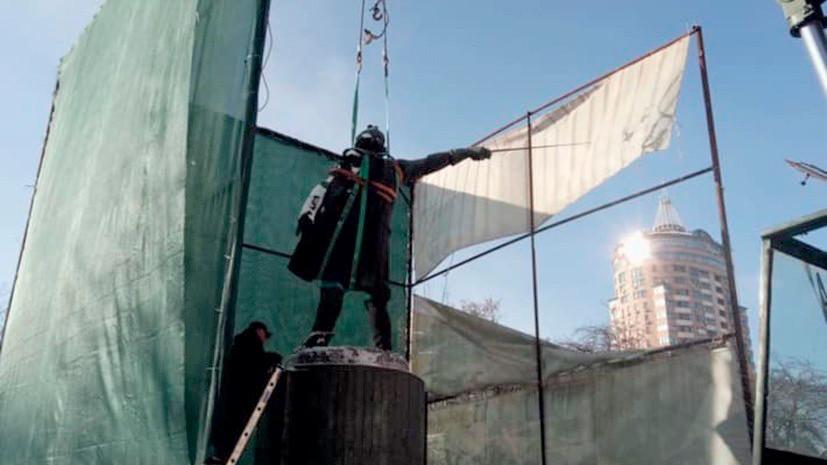 В Госдуме прокомментировали начало демонтажа памятника Суворову в Киеве