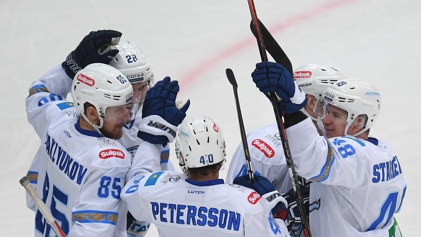 СКА в серии буллитов одолел «Барыс» в регулярном чемпионате КХЛ