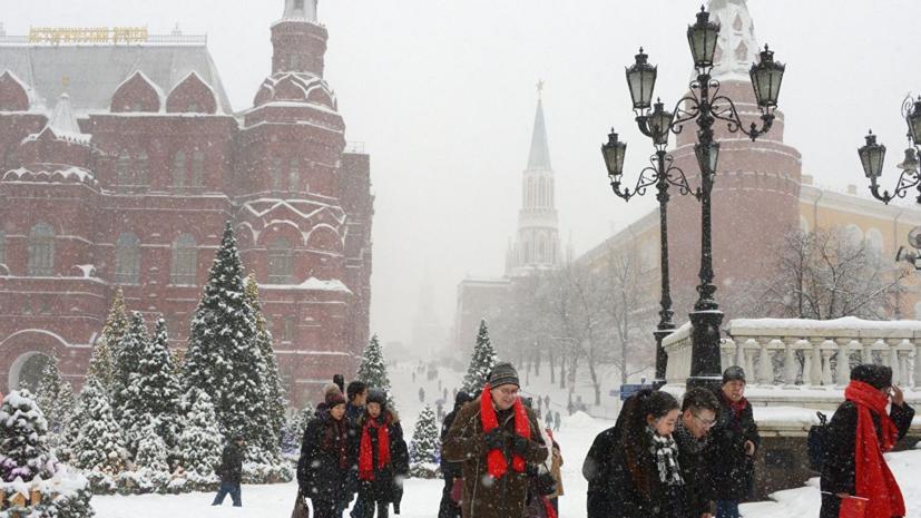 В Москве объявлен «жёлтый» уровень опасности из-за метели 26 января