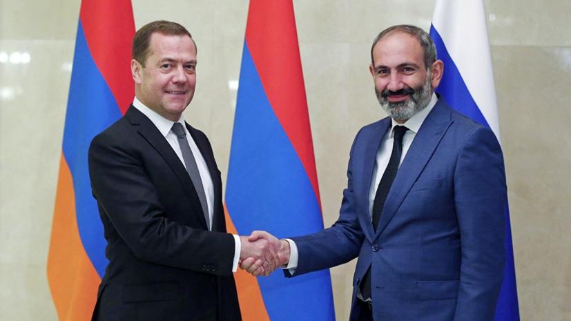 Медведев обсудил с Пашиняном экономическое сотрудничество двух стран