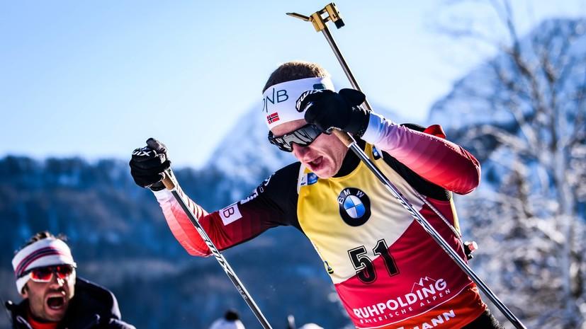 Бё выиграл спринт на этапе КМ в Антхольце, Гараничев — 21-й