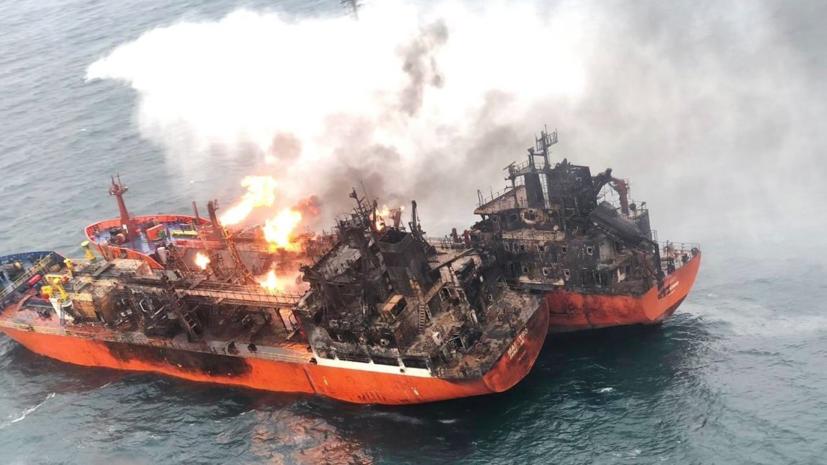 Поисковая операция в Чёрном море после ЧП с судами завершена