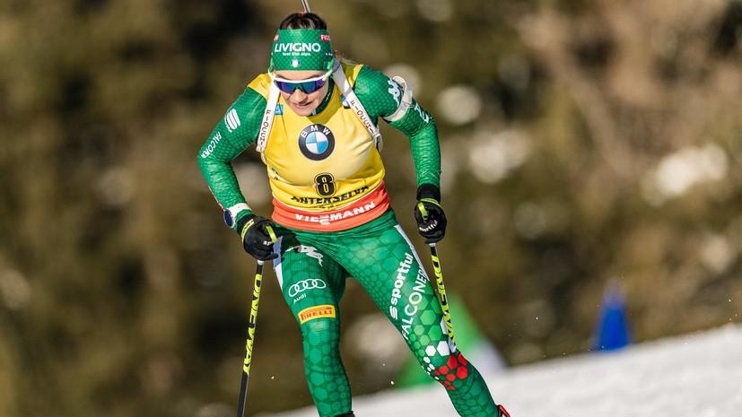 Вирер выиграла гонку преследования на этапе КМ в Антхольце, Старых — 13-я