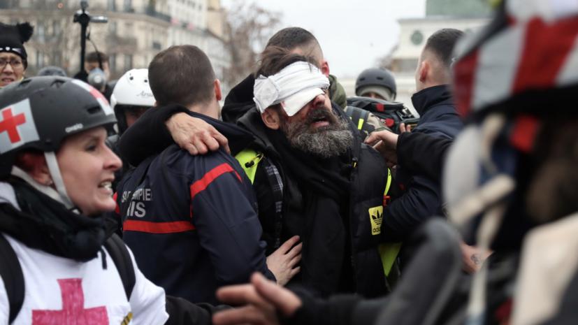 Глава МВД Франции высказался против насилия на протестах «жёлтых жилетов»