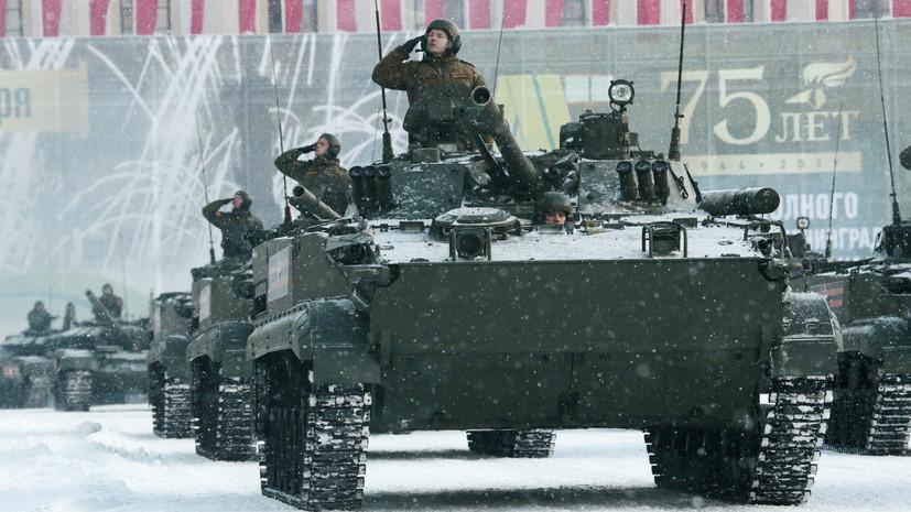 В Петербурге проходит военный парад в честь снятия блокады Ленинграда