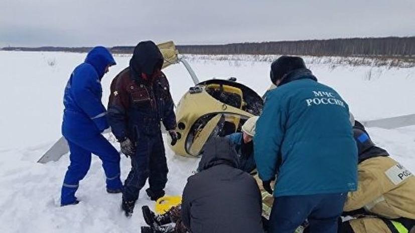 Вертолёт совершил жёсткую посадку в Нижегородской области