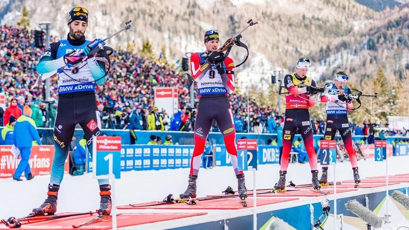 Победная серия Бё прервалась: Фийон Майе выиграл масс-старт на этапе КМ по биатлону в Антхольце, Гараничев — седьмой