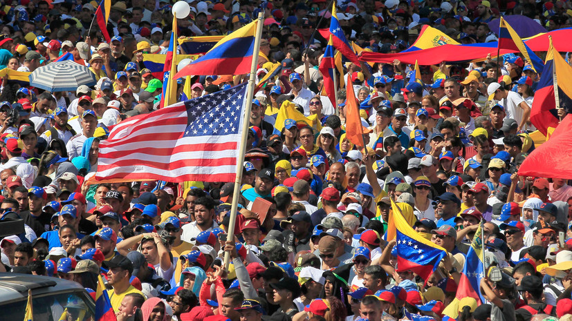 Песков отметил опасность вмешательства США в ситуацию в Венесуэле