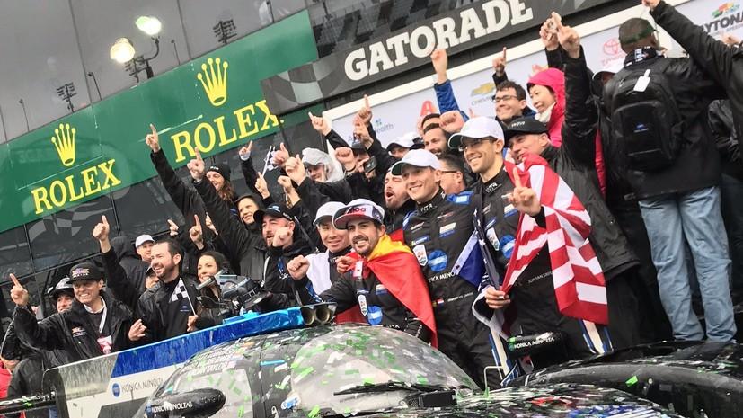 Экипаж Алонсо победил в марафоне «24 часа Дайтоны»