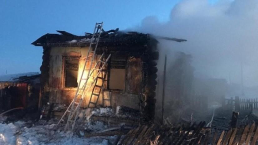 Курганские власти помогут семье, потерявшей троих детей при пожаре
