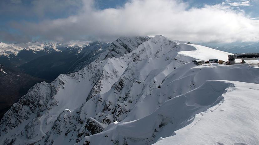 В горах Сочи до 30 января сохранится угроза схода лавин