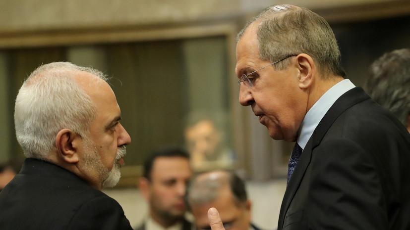 Лавров и Зариф в ходе переговоров обсудили ситуацию в Венесуэле
