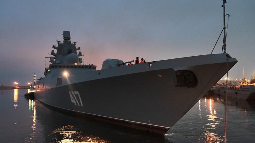 Фрегат «Адмирал Горшков» провёл стрельбы по различным целям в Баренцевом море