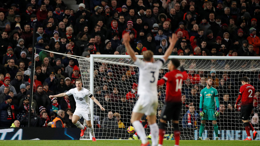 «Манчестер Юнайтед» ушел от поражения в матче АПЛ с «Бёрнли», отыгравшись с 0:2 за 11 минут