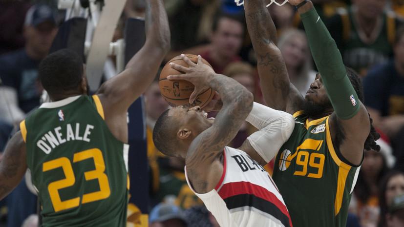 «Портленд» разгромно победил «Юту» в матче НБА, Лиллард набрал 36 очков