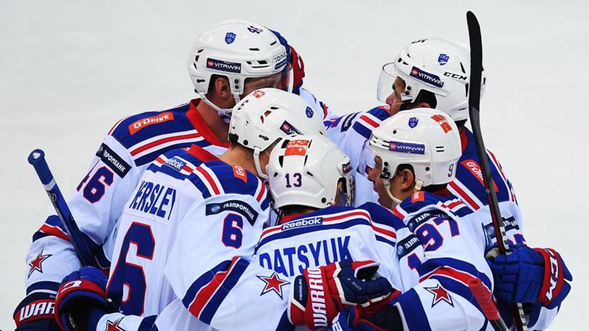 СКА обыграл «Барыс» и стал победителем дивизиона Боброва в КХЛ