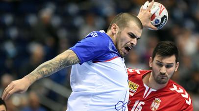 Дмитрий Киселёв в матче с Сербией