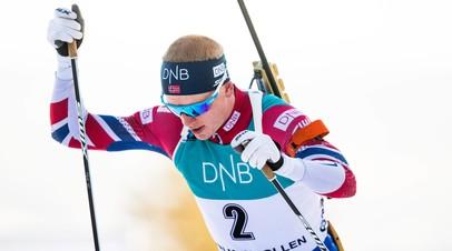 Норвежец Йоханнес Бё выиграл масс-старт на этапе КМ в Рупольдинге