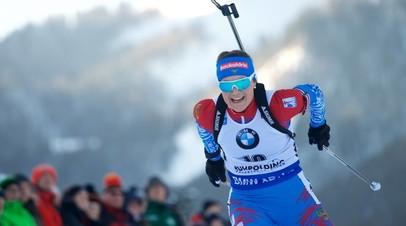 Немецкая биатлонистка Пройсс выиграла масс-старт на этапе КМ в Рупольдинге