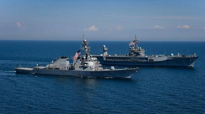 Корабли ВМФ США в Черном море во время совместных учений с Украиной