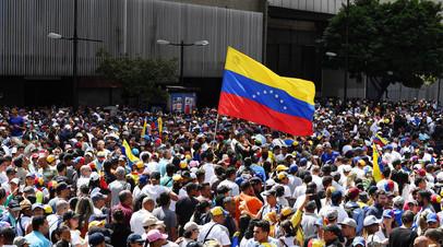 Манифестация в Венесуэле