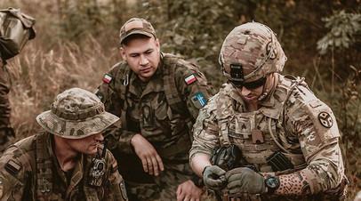 Учения военнослужащих Польши и США