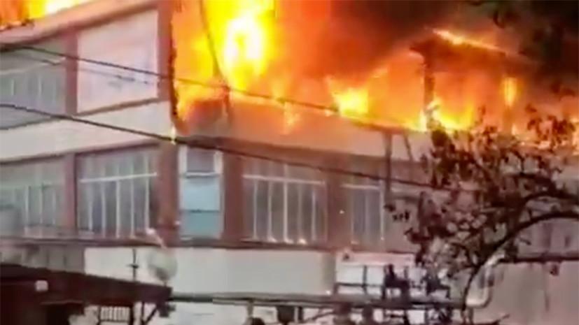 Пожар в ТЦ в Кизляре ликвидирован