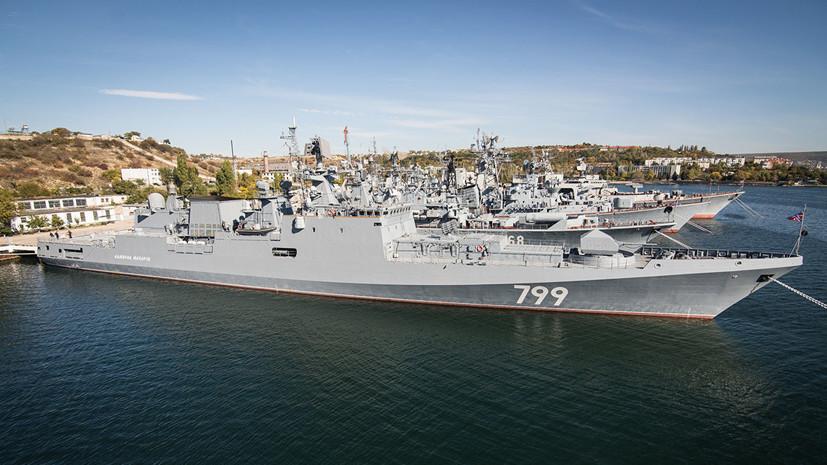 Фрегат ЧФ «Адмирал Макаров» провёл противовоздушную тренировку в Средиземном море