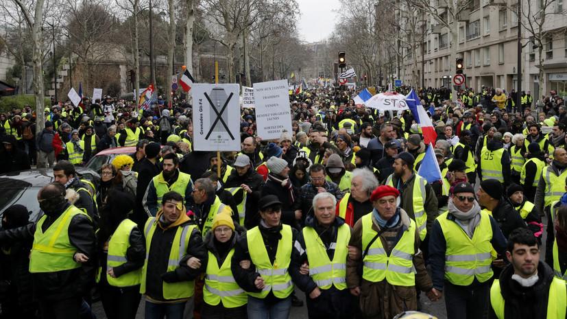 Более 17 тысяч человек принимают участие в протестах «жёлтых жилетов» во Франции
