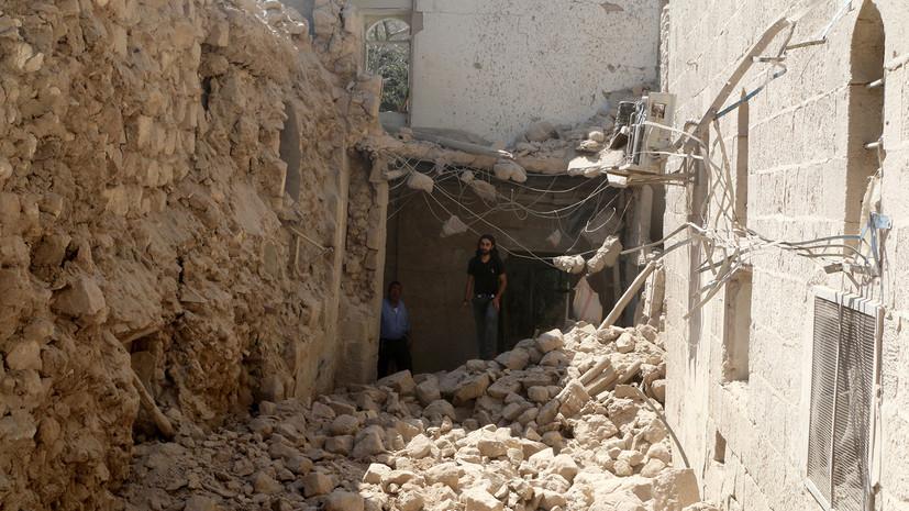 При обрушении дома в Алеппо погибли 11 человек