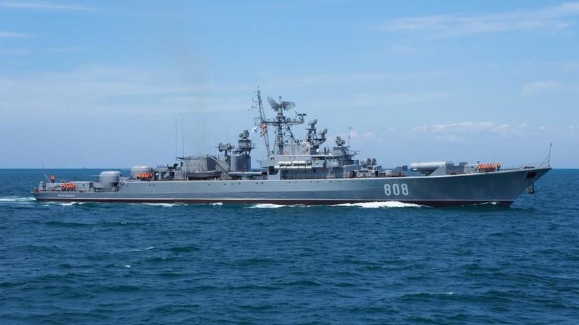 Корабли ЧФ провели ракетные и артиллерийские стрельбы