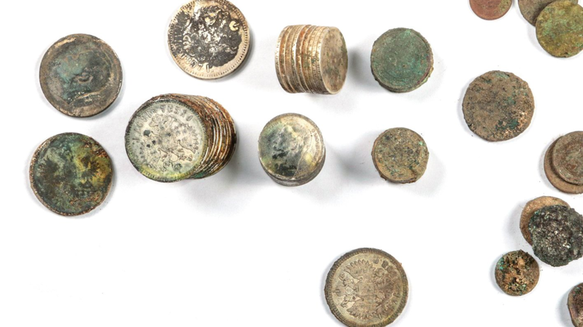 При раскопках в Москве нашли клад с монетами XIX—XX веков