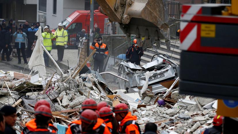 Момент обрушения восьмиэтажного дома вСтамбуле попал навидео— Двое погибших