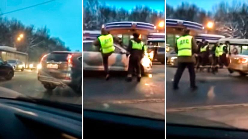 Незаконное перекрытие: МВД проверит инцидент с живым щитом из автомобилей во Владимире
