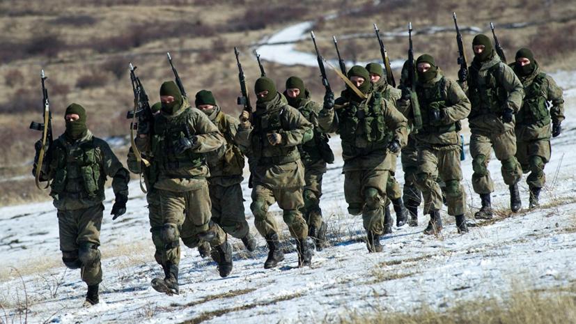 Сухопутные подразделения ЧФ совершили марш на полигон в Крыму
