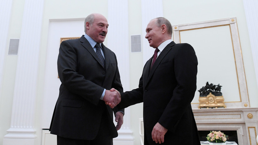 Общение Путина и Лукашенко запланировано на весь день