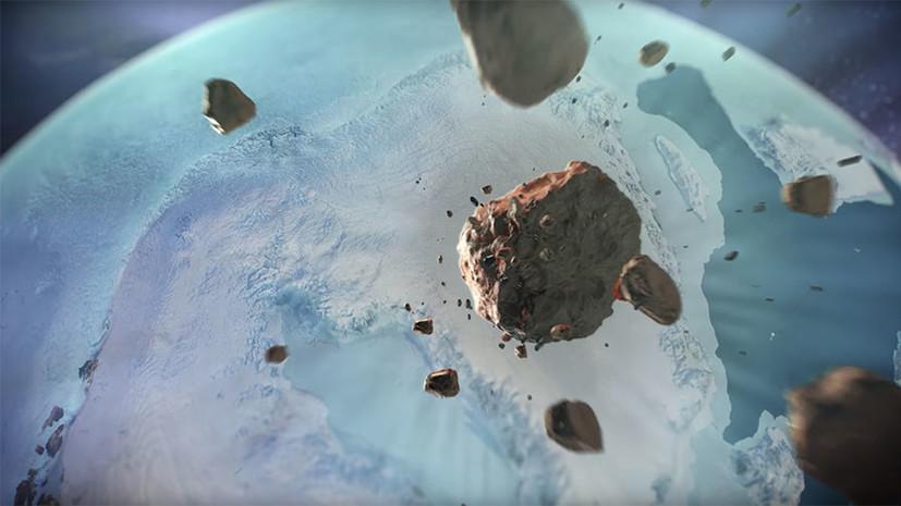 Космический след: в Гренландии обнаружен подлёдный кратер