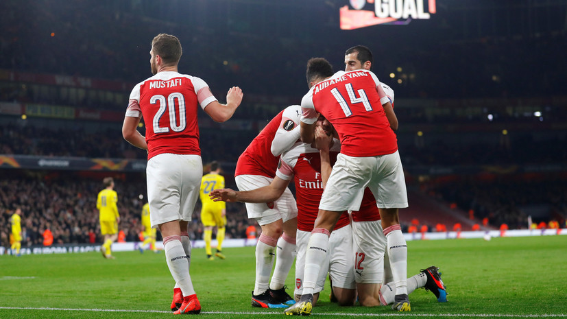 «Арсенал» разгромил БАТЭ и вышел в следующий раунд плей-офф ЛЕ