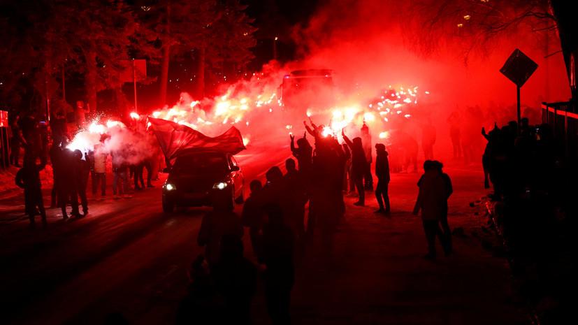 Семак поблагодарил фанатов «Зенита» за фаер-шоу перед матчем с «Фенербахче»