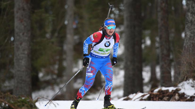 Юрлова-Перхт высказалась о своём выступлении в спринте на ЧЕ по биатлону в Раубичах