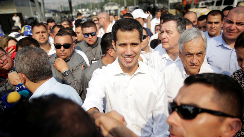 Гуаидо прибыл на границу с Венесуэлой со стороны Колумбии